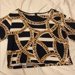 H&M Chain Print Top | Size Large